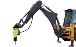 Гидромолот на базе экскаватора-погрузчика VOLVO BL 71