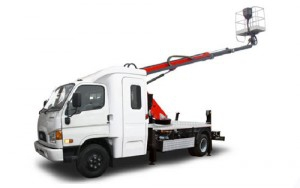 Телескопическая на базе автомобиля HYUNDAI HD 78